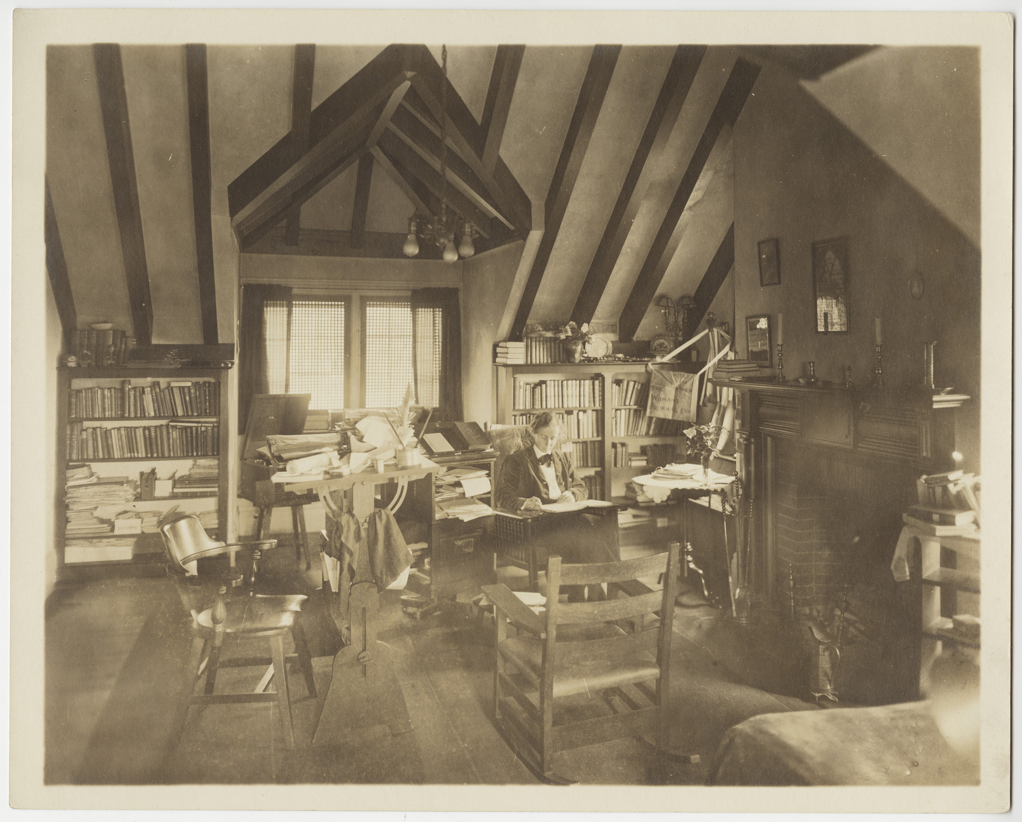 """Attic Peace,"" Jeannette Marks' personal study in the President's House, taken by Katherine McClellan"