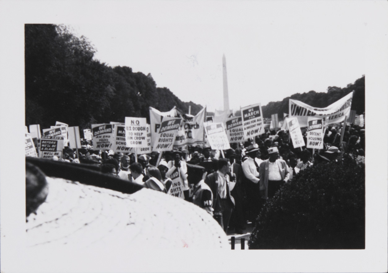 Students at the March on Washington, August 28, 1963