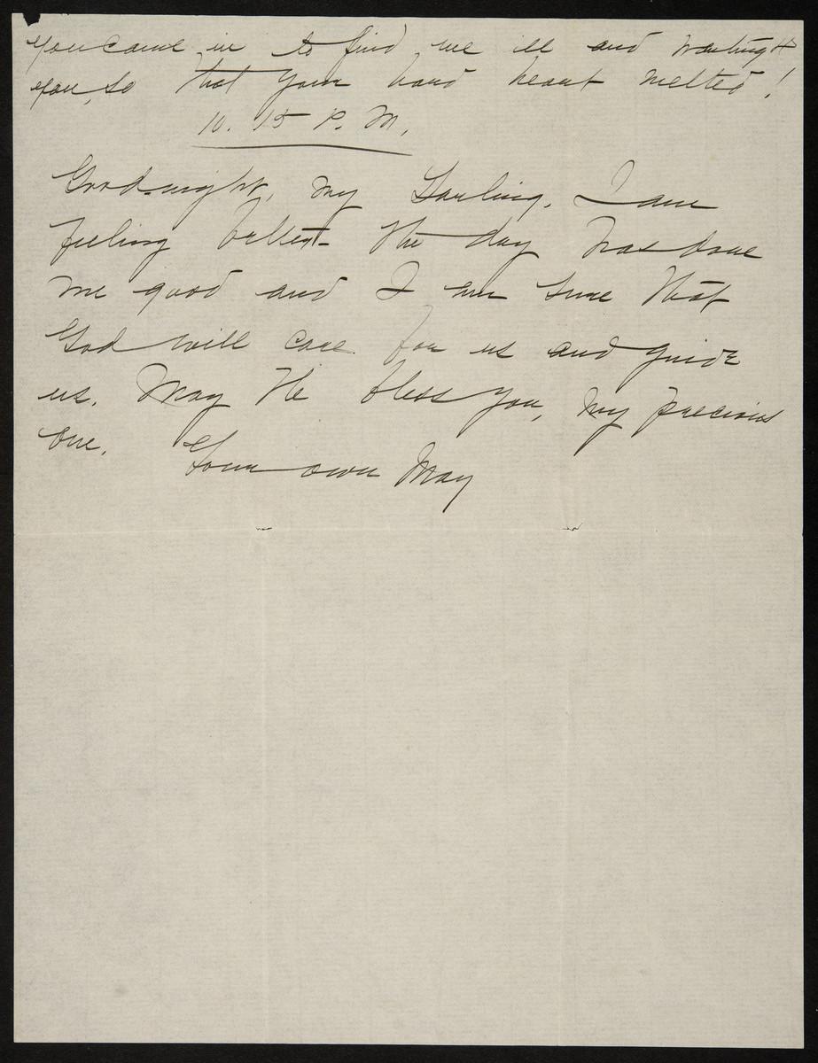 "Winter 1901, ""My precious little sister - I had written so far"""