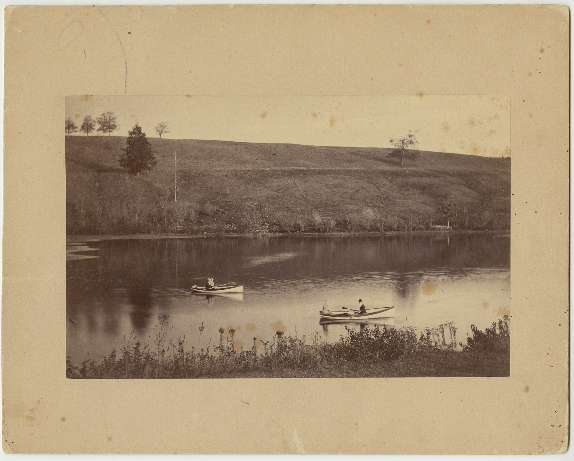 Canoeing on Lower Lake, 1880-82