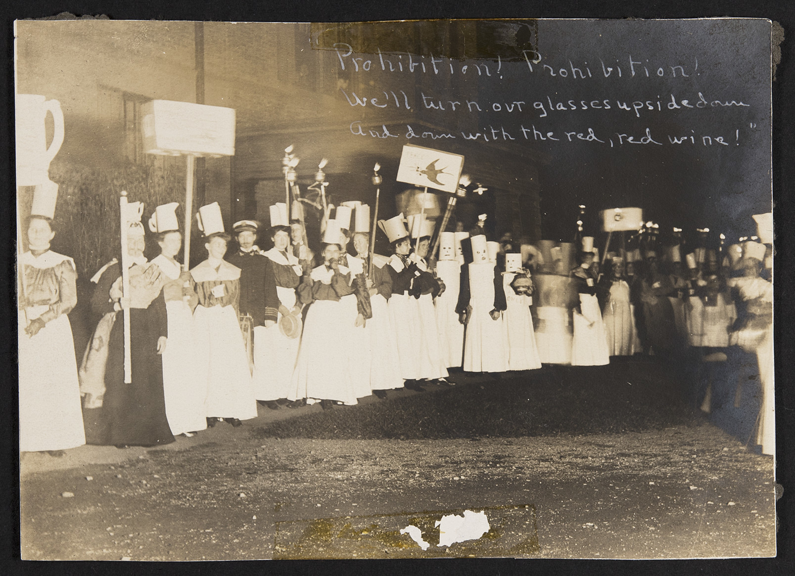 Supporters of the Prohibition Party Marching, 1904