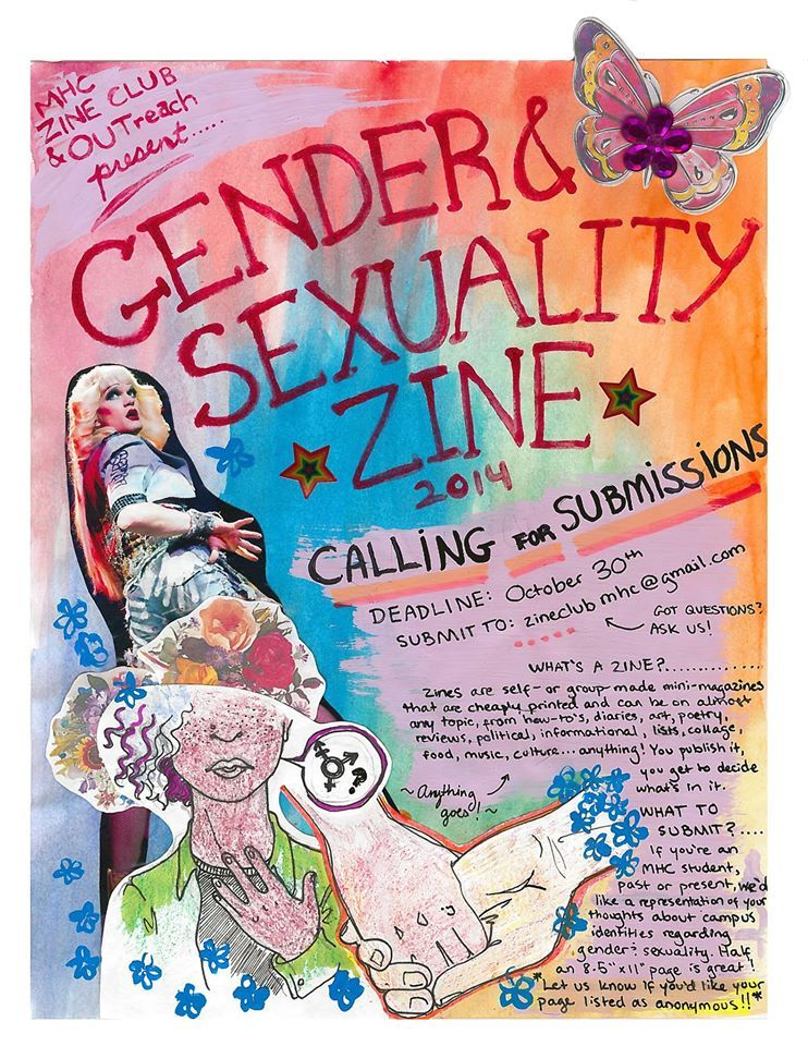 Gender and Sexuality Zine Flyer