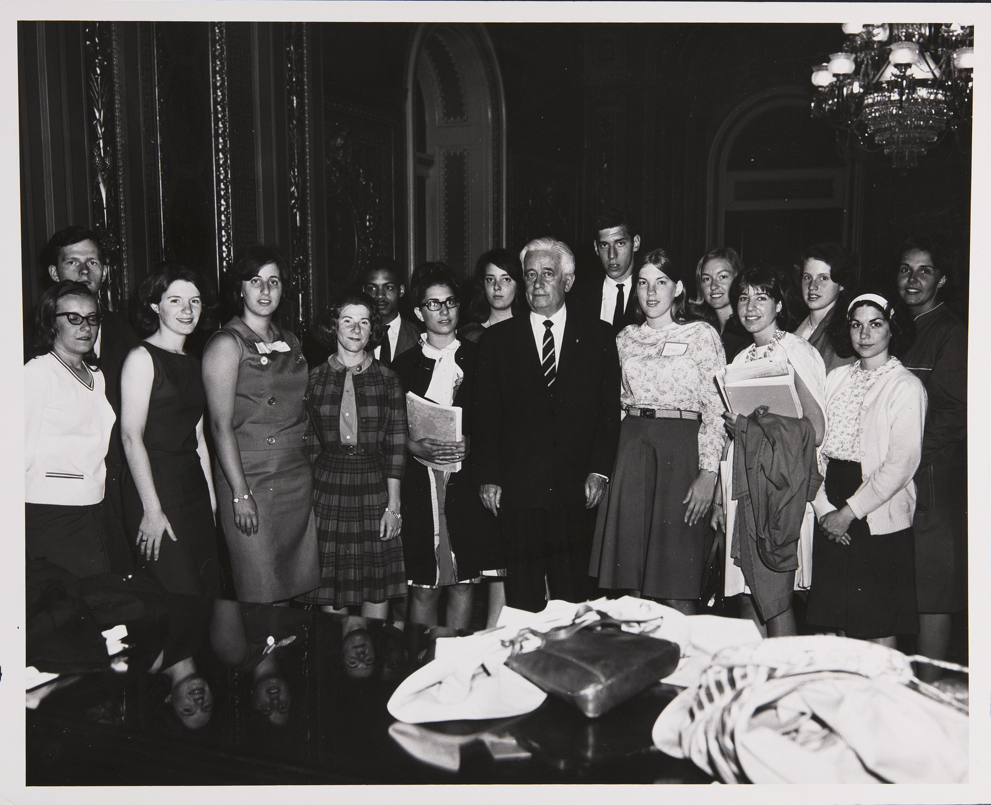 Mount Holyoke and Amherst Students in Washington D.C., May 15, 1964<br />