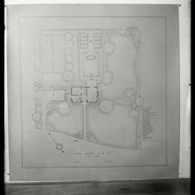Miss Cooks's Plan of Campus 1932 McElwain Property