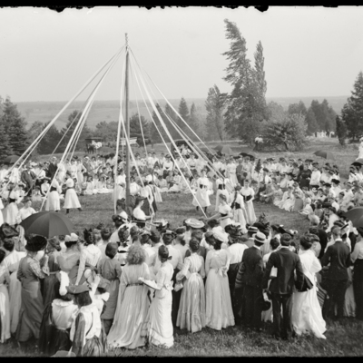 May Day 1903 Winding the Maypole
