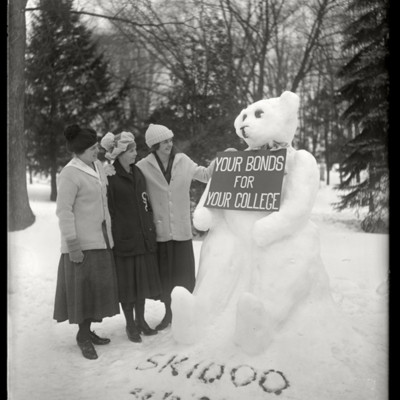 Teddy Bear - 'Your Bonds for your College': Elinor S. Pedley 1923, E. Madeleine Pettengill 1923, Charlotte Ferguson 1923