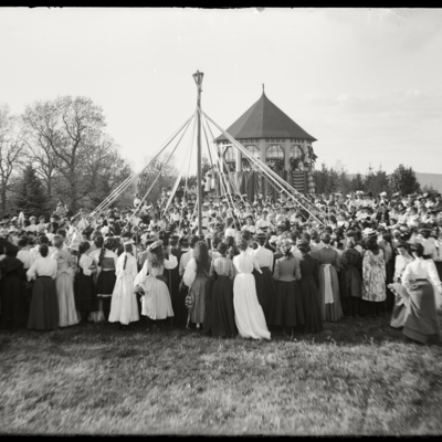 May Day 1902 Winding the Maypole