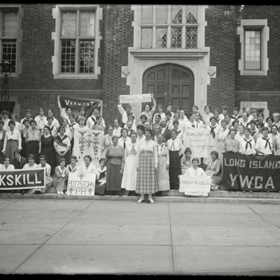 YWCA Convention, YWCA Clubs of:  Peekskill; Pottstown, PA; Vermont; Burlington County; Chautauqua; Long Island; Titusville, Penna.