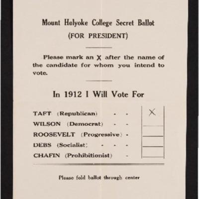 Mock Ballot, 1912