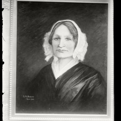 Mary Lyon portrait by L. R. Jewett April 1906