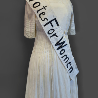 Florence Tuttle's Sash and Louise Dunbar's Dress