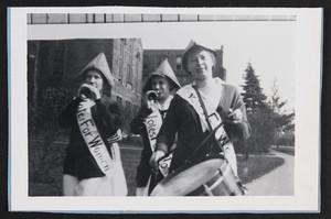 Mount Holyoke Students Wearing 'Votes for Women' Sashes, 1916