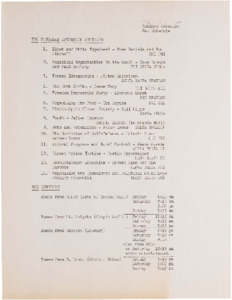 Seminar Schedule from the Civil Rights Conference at Mount Holyoke, 1965