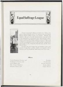 Equal Suffrage League Page in the Class of 1917 Llamarada<br />